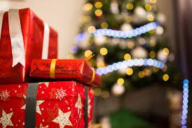 red ribbon christmas presents free stock photo negativespace