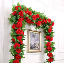 liroyal artificial rose garland silk flower vine for home wedding