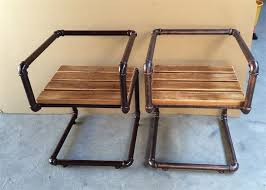 wood and pipe table galvanized pipe desk desk