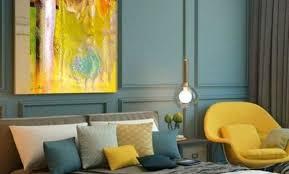 chambre jaune et bleu chambre bleu marine et jaune beau décoration chambre bleue et grise