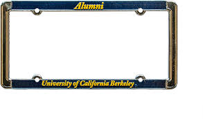 uc berkeley alumni license plate alumni of california berkeley license plate frame