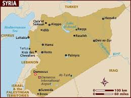 map of syria map of syria
