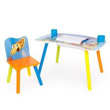 bureau dessin bureau table à dessin pour enfant avec chaise rouleaux papier