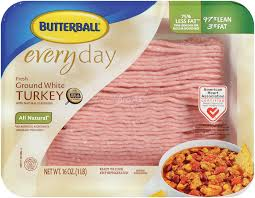 butterball cooked turkey butterball 97 ground turkey breast 1 lb package grocery
