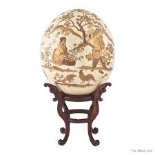painted ostrich eggs for sale japanese gilt lacquered ostrich egg manhattan and antiques center