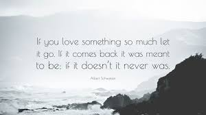 let it go albert schweitzer quote if you love something so much let it go