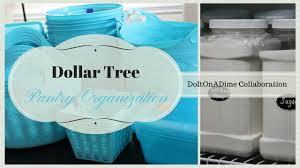 dollar tree pantry organization collab with doitonadime youtube