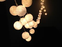 Bulb Lights String by White Cotton Ball String Lights For Patioweddingparty And