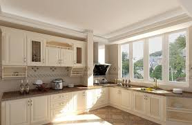 House Kitchen Interior Design Pictures Pastoral Style White Kitchen Interior Design 3d House