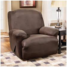Leather Slipcover Sofa Amazon Com Sure Fit Stretch Leather 1 Piece Recliner Slipcover