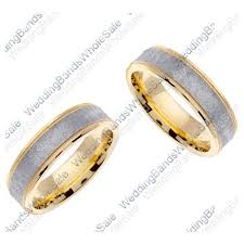 his and hers wedding 950 platinum and 18k gold 6mm handmade two tone his hers wedding rin
