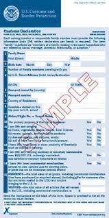 sle customs declaration form u s customs and border protection