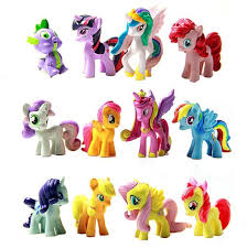 set of 12 pcs my little pony cake toppers pvc action figures kids