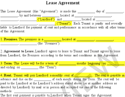 Lease Agreement   Create a Free Rental Agreement Form lease agreement form premises landlord tenant rent term