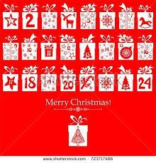 merry christmas advent calendar 25 windows stock vector 714214357