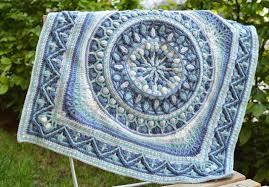 large crochet squares dandelion mandala