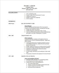 Mechanical Resume Samples by Hvac Resume Template U2013 7 Free Samples Examples Format Download
