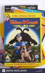 rabbit dvd pile of dvds with wallace gromit the curse of the were rabbit
