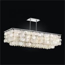 Rectangular Shade Chandelier Lighting Choose Beautiful Capiz Chandelier Designs For Your Home