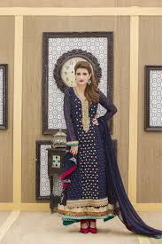 a navy blue hand embroidery bridal dress exclusive online boutique