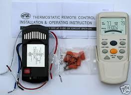 Hampton Bay Ceiling Fan Lcd Thermostatic Remote Control Fan 9t