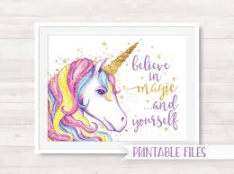 unicorn printable art unicorn art print children u0027s room