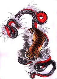 japanese snake vs tiger tiger vs snake by clouds94 on