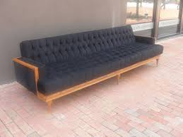 Mid Century Modern Tufted Sofa by Furniture Modern Mid Century Extra Long Tufted Couch With Wooden