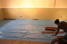 basement floor vapor barrier the floor