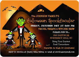 halloween invitation wording for kids
