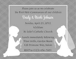 Invitation Card For Holy Communion First Communion Invitation Twins Digital File Twin