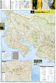 Map Costa Rica Costa Rica Adventure Travel Map Trails Illustrated National
