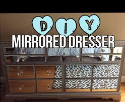 how to make a mirror headboard diy mirrored dresser for a fraction of retail youtube