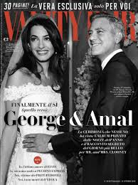 Vanity Fair Wedding George Clooney Wedding Photo Makes Vanity Fair Italia Cover