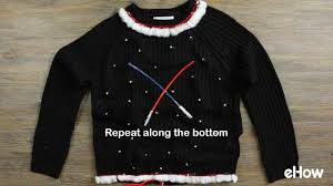 sweaters that light up diy light up wars sweater no sew