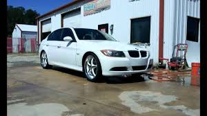 custom white bmw 2006 bmw 325i black ice rims freshly painted white youtube