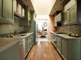 Modern Galley Kitchen Ideas by Kitchen Modern Galley Kitchen With Green Kitchen Cabinet With