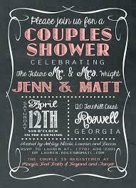co ed bridal shower chalkboard wedding shower invitations chalkboard couples wedding