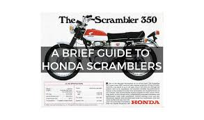 a brief guide to honda scramblers