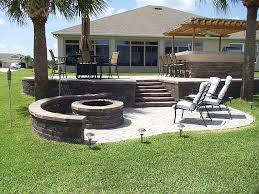 Cheap Patio Pavers Tremron Olde Towne Paver Patio Firepit And Outdoor Kitchen