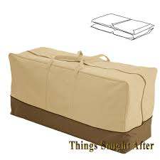 Seat Bench Cushions Seat Cushion Storage Bag For Chair Bench Chaise Patio Furniture