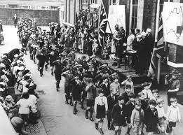 children celebrate empire day 24th may c 1935