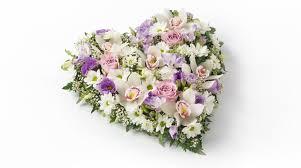 funeral flower heart shaped funeral flowers co op