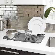 amazon com umbra udry mini dish drying rack u0026 microfiber dish mat
