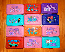 box personalized personalized pencil box painted