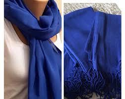 cobalt blue scarf etsy