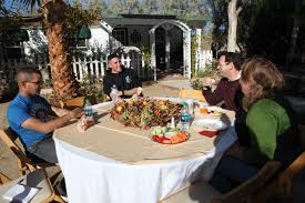mcces students enjoy thanksgiving meal at roughley manor marine