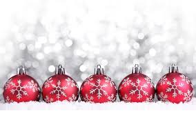 red christmas ornaments white bokeh background hd