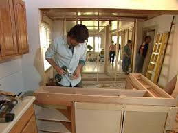 Standard Width Of Kitchen Cabinets by How To Building A Kitchen Island With Cabinets Hgtv