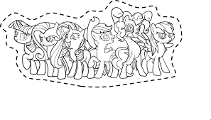 pony coloring pictures my little pony printable cut outs